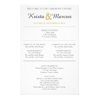 Het eenvoudige Programma van het Huwelijk van Flyer