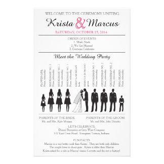 Het eenvoudige Programma van het Huwelijk van Flyer 14 X 21,6 Cm