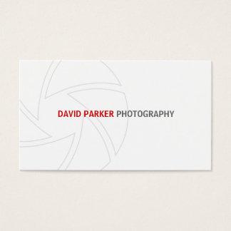 Het eenvoudige Visitekaartje van de Fotograaf Visitekaartjes