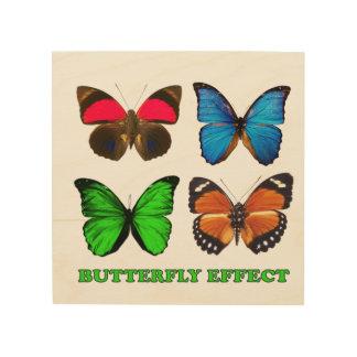 Het effect van de vlinder hout afdruk