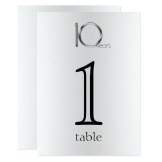 Het elegante Aantal van de Lijst van het Jubileum Kaart