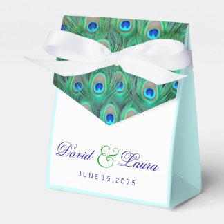 Het elegante Blauwgroen Blauwe Huwelijk van de Bedankdoosjes