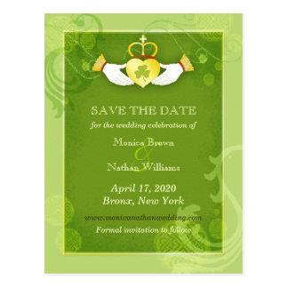 Het elegante Groene Ierse Huwelijk bewaart de Briefkaart