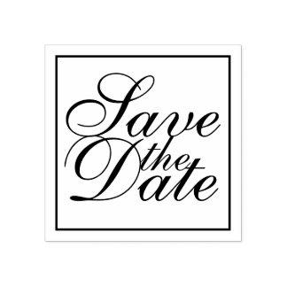 Het elegante Huwelijk bewaart de Datum Rubberstempel
