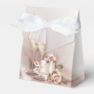 Het elegante Huwelijk van Champagne Bedankdoosjes