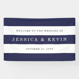 Het elegante Huwelijk van de Strepen van de Marine Spandoek