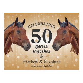 Het elegante Jubileum van het Huwelijk van de Briefkaart