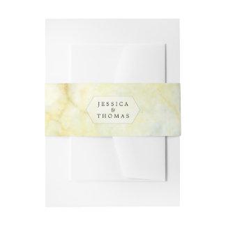 Het elegante Marmeren Collectie van het Huwelijk Uitnodigingen Wikkel