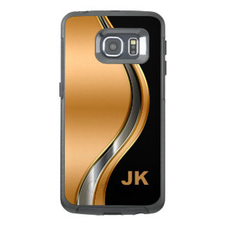 Het elegante Monogram van het Mannen OtterBox Samsung Galaxy S6 Edge Hoesje