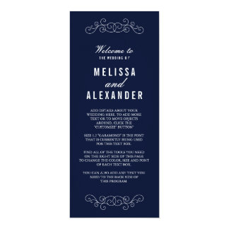 Het elegante Programma van het Huwelijk van de