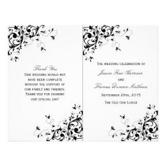 Het elegante Programma van het Huwelijk van Flyer 21,6 X 27,9 Cm