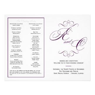 Het elegante Programma van het Huwelijk van het Ma Fullcolor Folder