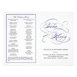 Het elegante Programma van het Huwelijk van het Ma Flyer 21,6 X 27,9 Cm