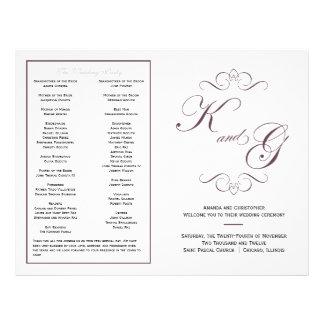 Het elegante Programma van het Huwelijk van het Ma Folders