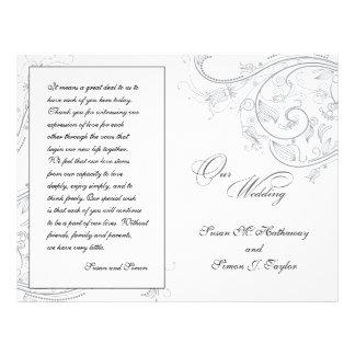 Het elegante Programma van het Huwelijk van het Ti Persoonlijke Folder