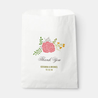 Het elegante Roze Huwelijk van de Bladeren van de Bedankzakje