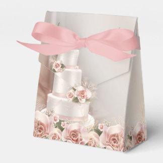 Het elegante Roze nam de Cake van het Huwelijk toe Bedankdoosjes