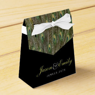 Het elegante Smaragdgroene en Gouden Huwelijk van Bedankdoosjes