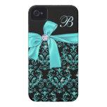 Het elegante Zwarte Monogram van de Boog van de Di iPhone 4 Case-Mate Hoesjes