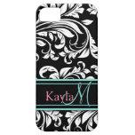 Het elegante Zwarte & Witte Patroon van het Damast Case-Mate iPhone 5 Hoesjes