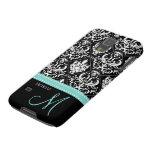 Het elegante Zwarte & Witte Patroon van het Damast Galaxy S5 Hoes