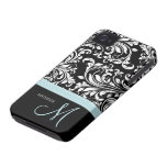 Het elegante Zwarte & Witte Patroon van het Damast Case-Mate iPhone 4 Hoesjes