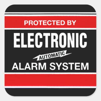 Het elektronische Systeem van het Alarm Vierkante Sticker