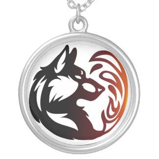 Het Element van de wolf Stammen - Brand Zilver Vergulden Ketting