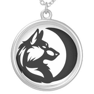 Het Element van de wolf Stammen - Maan Zilver Vergulden Ketting