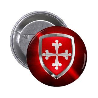 Het Embleem van Pisa Mettalic Ronde Button 5,7 Cm