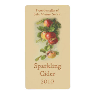 Het etiket van de de wijnfles van Apple
