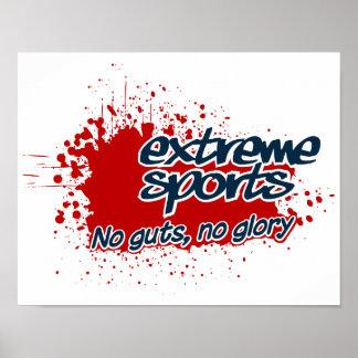 Het extreme klantgerichte poster van Sporten,