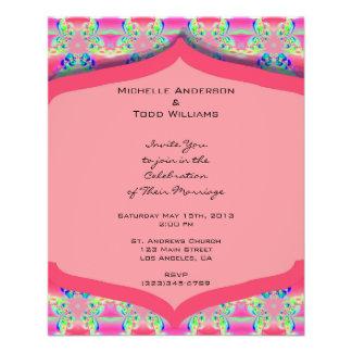 Het fancy Roze Huwelijk van het Patroon Folder