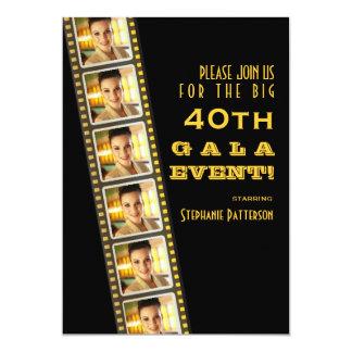 Het Feest van de Foto van de Verjaardag van de 12,7x17,8 Uitnodiging Kaart