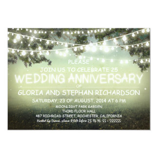 het fonkelen de het huwelijksverjaardag van 12,7x17,8 uitnodiging kaart