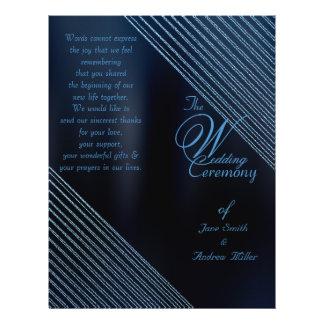 Het fonkelen Programma van het Huwelijk van de Flyer 21,6 X 27,9 Cm