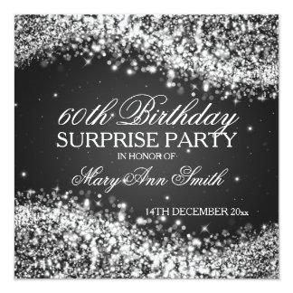 Het Fonkelen van de Partij van de Verjaardag van 13,3x13,3 Vierkante Uitnodiging Kaart