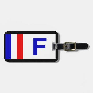 HET FRANSE GEPERSONALISEERDE LABEL VAN DE BAGAGE KOFFERLABEL