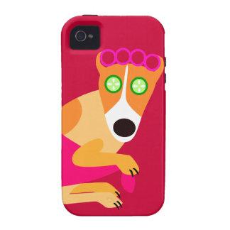 Het Funny Spa Rood van de Hond iPhone 4/4S Case
