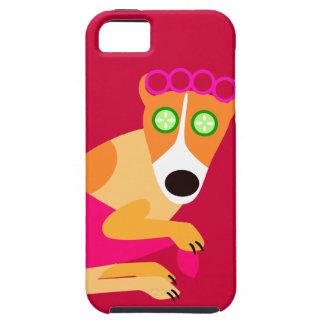 Het Funny Spa Rood van de Hond iPhone 5 Case-Mate Hoesje