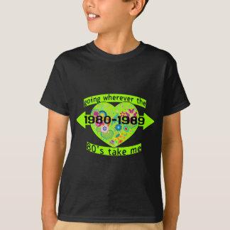 Het gaan met de jaren '80 t shirt