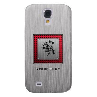 Het geborstelde metaal kijkt Paintball Galaxy S4 Hoesje