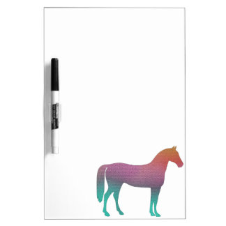 Het gebrandschilderd glas van het paard whiteboard