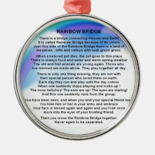 Het Gedicht Van De Brug Van De Regenboog Metalen Ornament