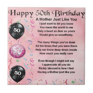 Genoeg Verjaardag Moeder Tegeltjes | Zazzle.be #WI17