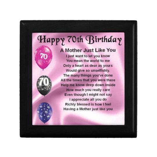 Moeder Verjaardag.Het Gedicht Van De Moeder 70ste Verjaardag Cadeaudoosje