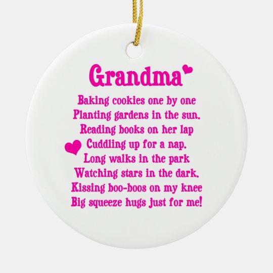 Het Gedicht Van De Oma Keramisch Ornament