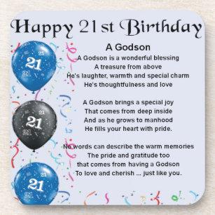 21ste Verjaardag Onderzetters Zazzle Be