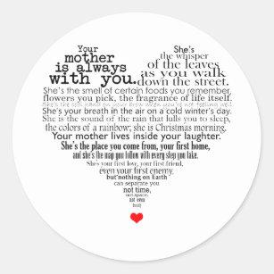Verrassend Gedicht Moeder Stickers | Zazzle.be GP-13