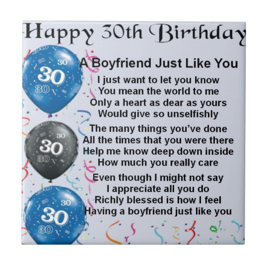 Het Gedichten Dertigste Verjaardag Van De Vriend Tegeltje